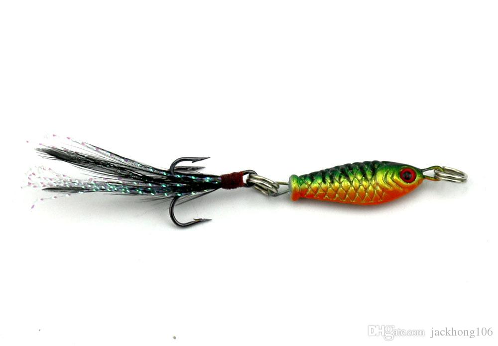 Wholesale 2.5cm 6.4g Fishing Lure Classic Mini Lead Jigs Metal Bait Four Colors Available