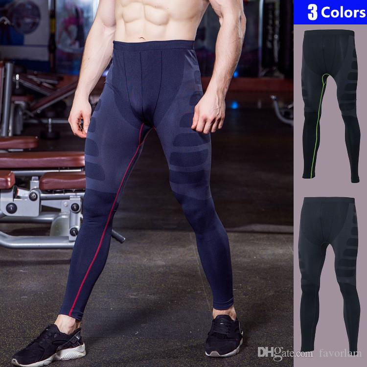 91060f83979af 2019 Mens Gym Leggings New Compression Pants Bodybuilding Pantalones Hombre Fitness  Leggings Trousers Sports Tights Running Pants Men From Favorlam, ...