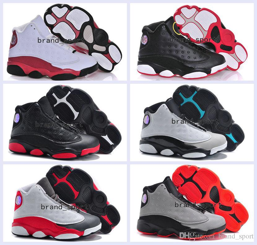 best service 64529 650c4 2016 New Air Retro 13 Kids Shoes Children J13s Basketball Shoes Boys Grils  Sports Shoes Youth Retro 13s Children's Sneakers Size 28-35