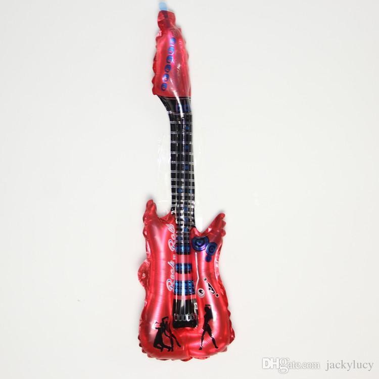 Горячие продажи!Новый 50 шт./лот оптовые продажи гитара аплодисменты палку, надувные игрушки, 83CMX30CM партии воздушный шар бесплатная доставка