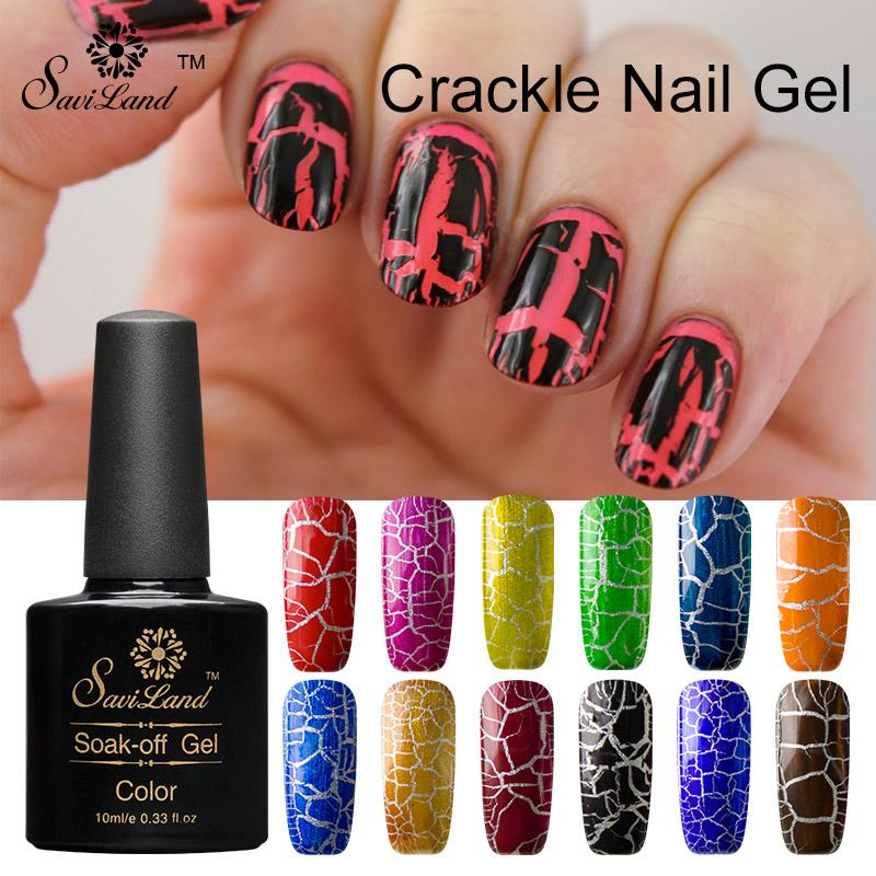 Wholesale saviland crackle gel nail polish nail art uv led light wholesale saviland crackle gel nail polish nail art uv led light ful gel new arrival cracking shatter nails lacquer how to remove nail gel nail uv gel from prinsesfo Image collections