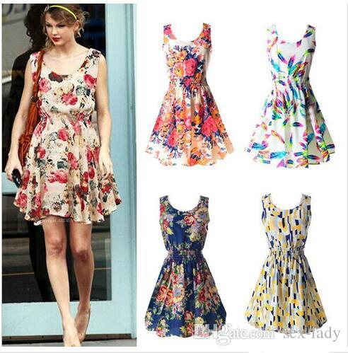 ad31827b2682a0 Fabrik Großhandel Neueste Mode Frauen Casual Dress Plus Size Günstige China  Kleid 19 Designs Frauen Kleidung Mode Sleeveless Summe Kleid DHL