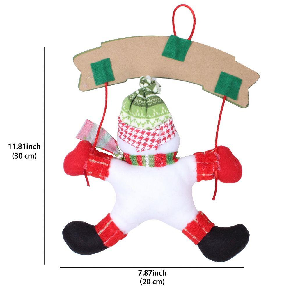 Santa Claus Snowman Ornaments Xmas Craft Door Hanging Blackboard Decoration For Holiday Wedding Festival Party Home