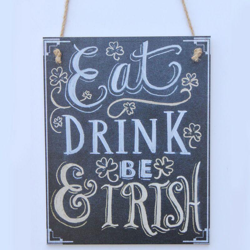 chalk sign eat drink be irish chalkboard shop decoration shop chalk