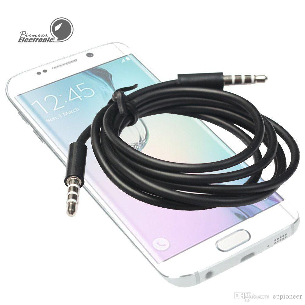 3.5mm Jack AUX Auxiliary Cord Male to Male Stereo Audio Cable for PC for Bluetooth Speaker Phone Laptop DVD MP3 Car Black and white