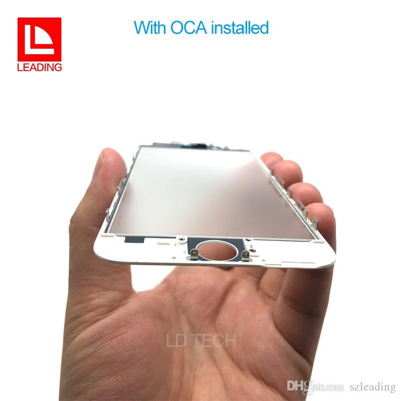 Front-Touch-Screen-Panel äußere Glaslinse mit kalten Presse mittleren Rahmen mit OCA installiert für iPhone 6 6 s 6 plus 6 s plus