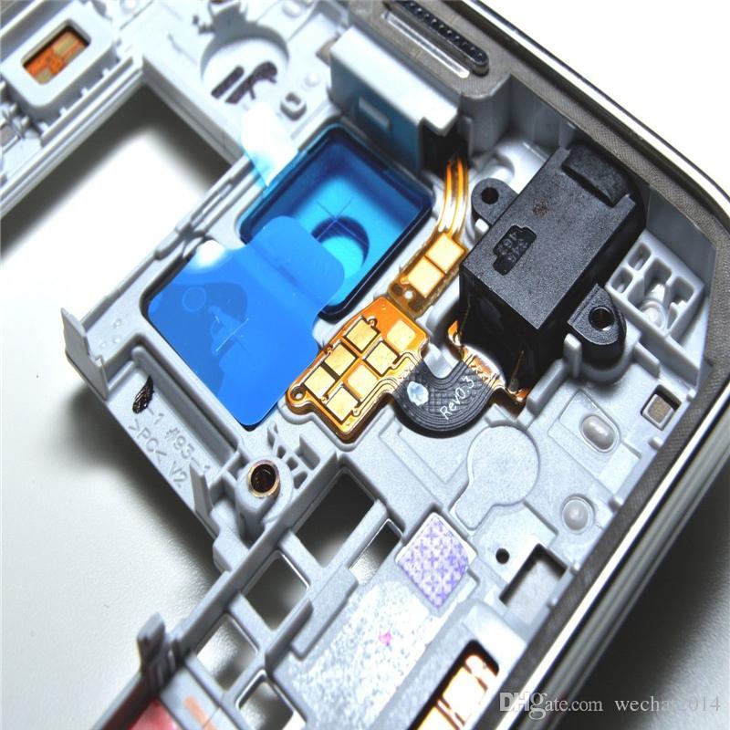 Oem الإطار الأوسط الحافة الخلفية الإسكان الخلفي مع استبدال أجزاء لسامسونج غالاكسي s5 g900 g900a g900t g900p g900 g900f الشحن dhl
