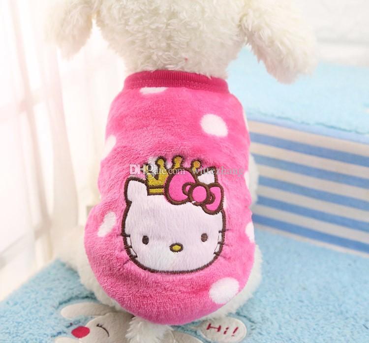 Vêtements de dessin animé hiver chiot vêtements doux flanelle chaude chien vêtements pour petite moyenne grand chien chat animal manteau XS-XXL