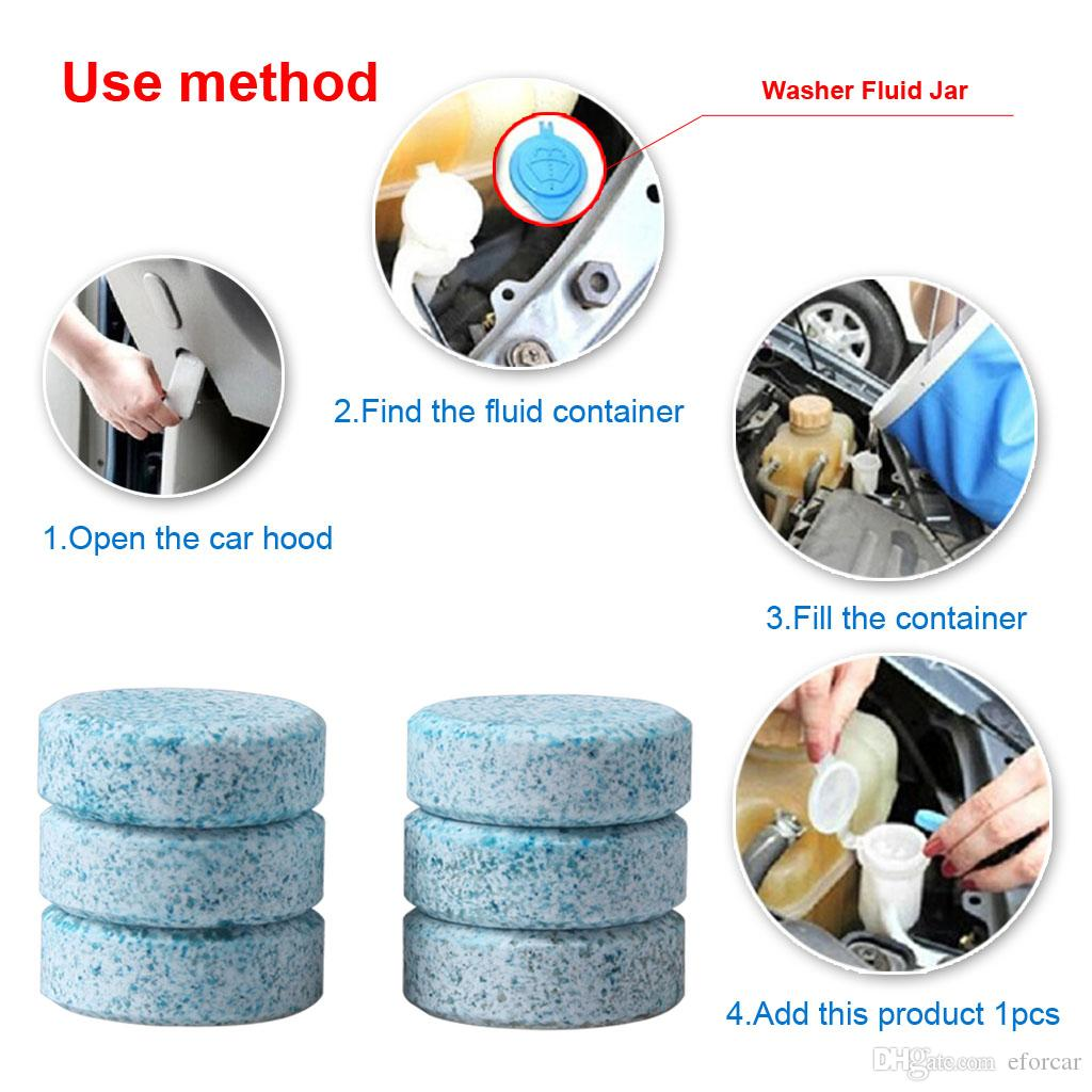 / voiture pare-brise compacte rondelle de verre propre nettoyant comprimés effervescents détergent essuie-glace solide rondelle de pare-brise instantanée