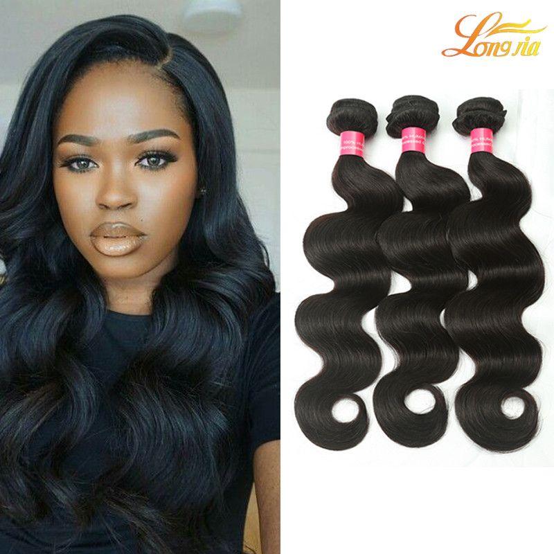 4f6470576 Big Sale!7A Brazilian Virgin Hair Body Wave 3Bundles Remy Products 100% Brazilian  Human Hair Body Curly Hair Extensions Dyeable Brazilian Virgin Hair Weave  ...