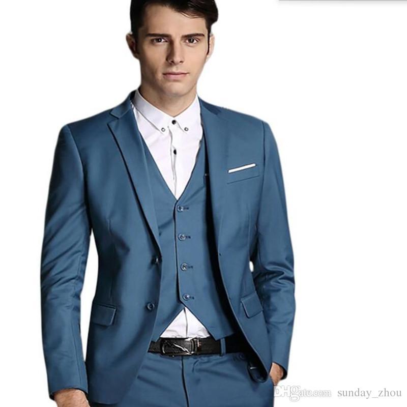 Последние мужские костюмы стильный жених костюмы смокинги высокое качество мужчины свадьба жених интервью костюмы куртка + брюки + жилет