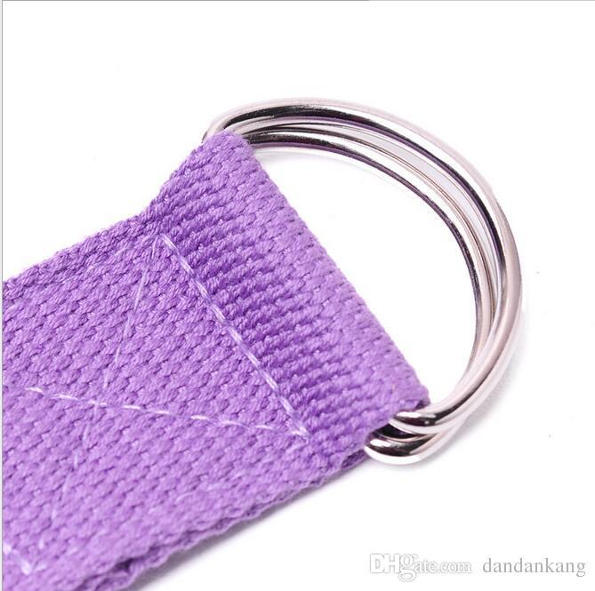 183cm aptidão Ioga listras bandas de resistência Ioga correias tensoras cinta anel-D da correia cintura Academia Perna laço de cabo Ioga Belt