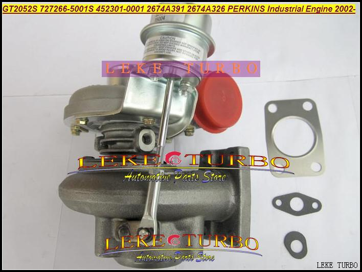 GT2052S 727266-5001S 452301-0001 2674A391 2674A326 Turbo Turbocharger For Perkins Industrial Engine 2002- Diesel (5)