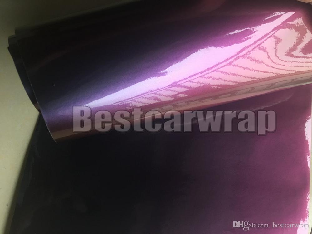 Roxo brilho turno Chameleon carro envoltório de vinil com bolha de ar livre Veículo cobrindo Flip Flop Foil Tamanho: 1.52 * 20M / Roll 5x67ft