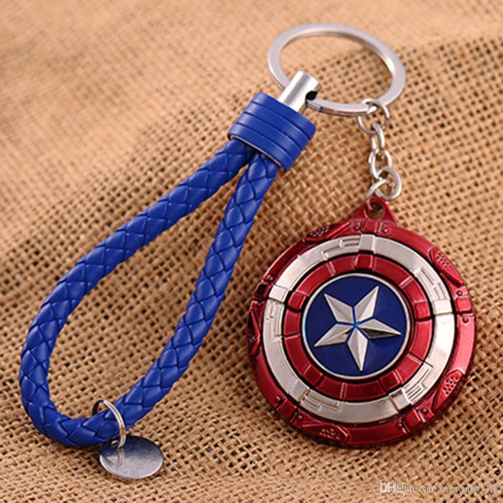 Nuevo Capitán América Escudo Llaveros de Metal Llavero Superhéroe Película The Avengers Llavero Iron Man Llaveros Llavero Hombres Regalo