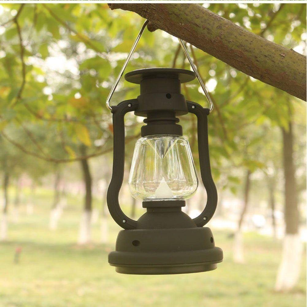 Panel de células solares Lámpara de linterna 7 LED Lámpara de luz brillante Manivela portátil Lámparas colgantes para exteriores Senderismo Camping Pesca Luces Tiendas de campaña Lámpara