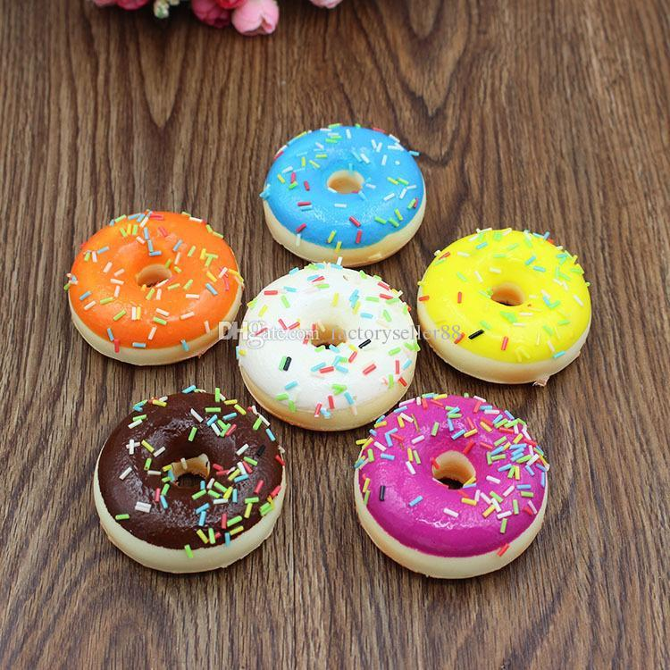 Squishy Donut Toy : 2018 5cm New Kids Toys Colorful Donut Squishy Donuts Bread Strap Decoration Toy Gifts Wholesale ...