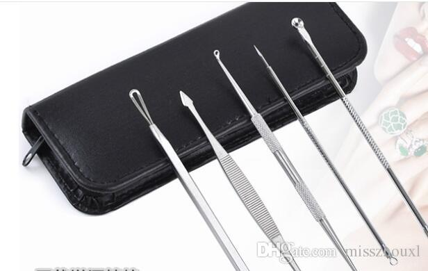 Blackhead Pimple Blemish Extractor Remover Tools Black Head Acne Remover Needle Facial Tool Kit Set Make Up Skin Care Product