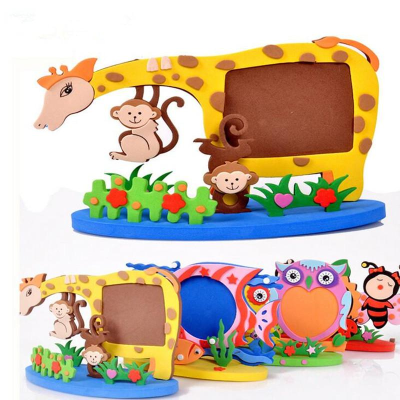 2018 Cartoon Animal Photo Frames Handmade Diy Eva Foam Picture Frame ...
