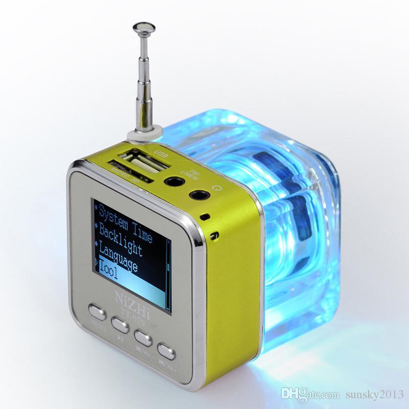 Altoparlanti Hi-Fi Altoparlanti Hi-Fi Altoparlanti Hi-Fi Crystal LED Light Altoparlanti Hi-Fi Nizhi TT-029 Aggiornato TT-028 Lyrics Display Radio FM USB