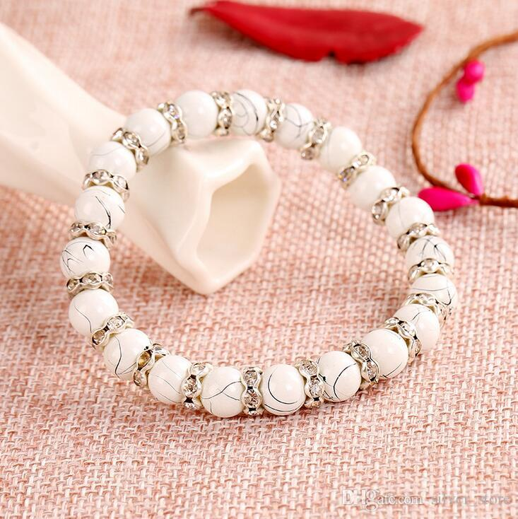 Brand new Glass Diamond Bracelet Imitation Natural Crystal Bracelet Ornament Hand FB032 a Beaded, Strands