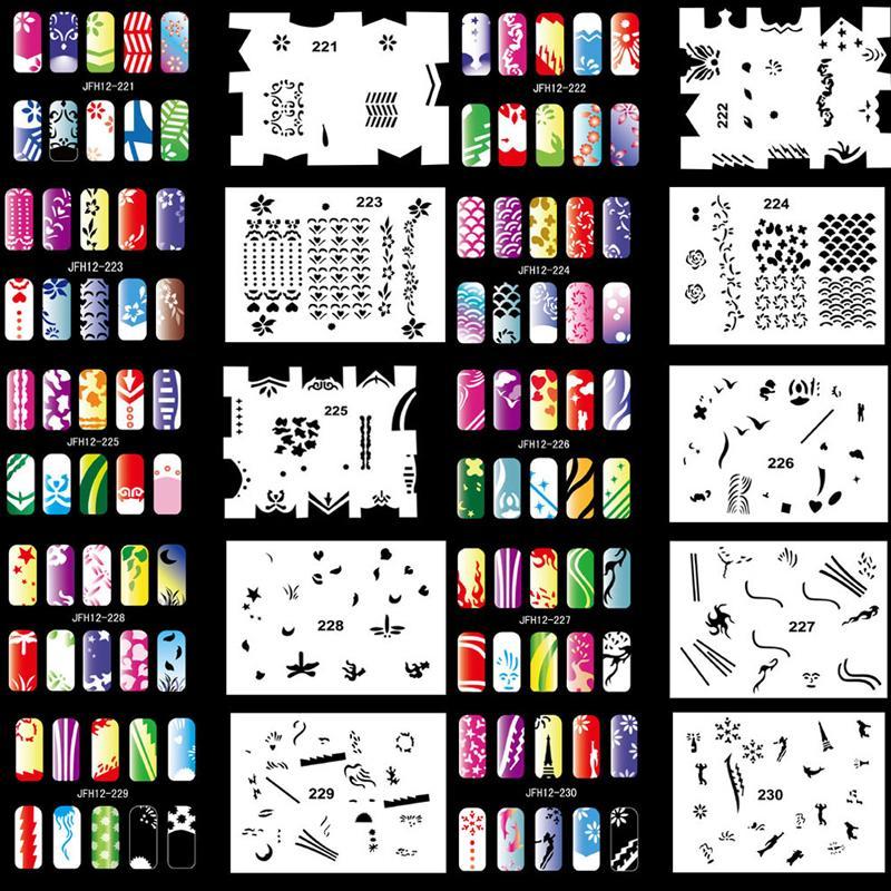 2018 Fashion Templates Ophir 200 Designs Airbrush Nail Art Stencil ...