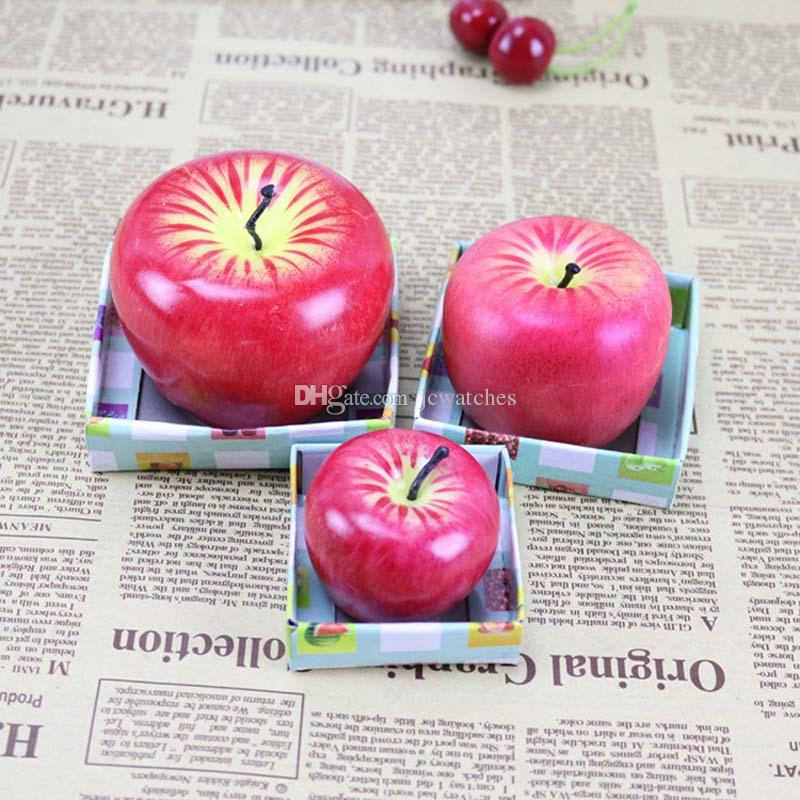Red Apple Candle with Retail Package Home Decoration Fruit Shape Scented Candle Lamp Christmas Birthday Wedding Gift Wholesale