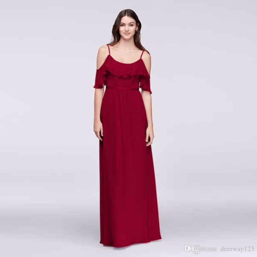 Cold shoulder crinkle chiffon bridesmaid dress f19508 spaghetti cold shoulder crinkle chiffon bridesmaid dress f19508 spaghetti straps long wedding party dress evening dress formal dresses champagne bridesmaid dresses uk ombrellifo Image collections