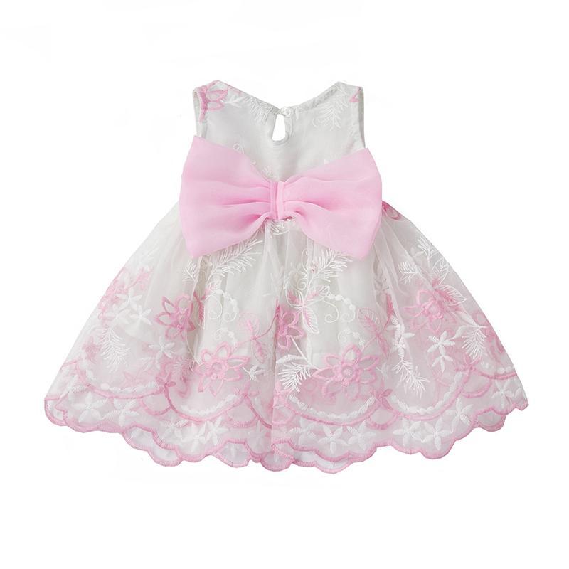 2018 Wholesale Aini Babe Baby Girl Dress Lace Crochet Christening ...