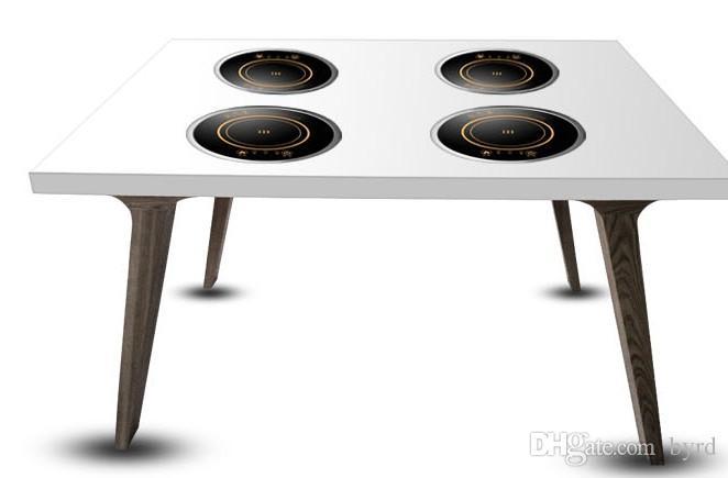 intégré dans le ménage bureau hot pot rond tactile cuisinière à induction portable mini cuisinière électrique induction cuisinière commerciale plaque de cuisson 220 V F-196D