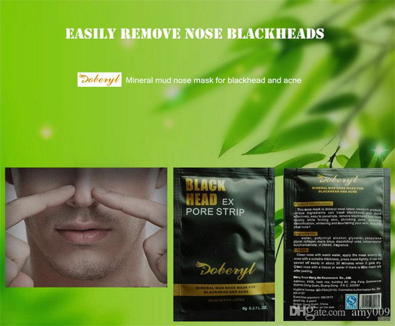 DOBERYL Black Head Mask 6g Face Care Facial Blackhead Remover Nose Acne Treatments Deep Cleansing Mineral Mud EX Pore Strips Cleaner