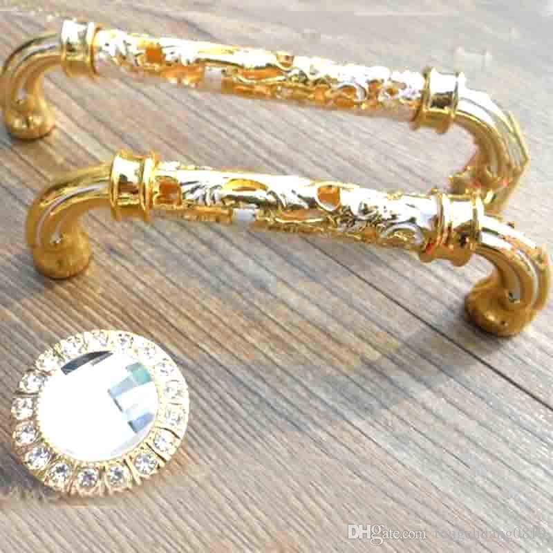 96 мм 24 к золото ящик шкафа тянет ручки белый комод шкаф дверные ручки моден моды золото белый мебельная фурнитура ручки