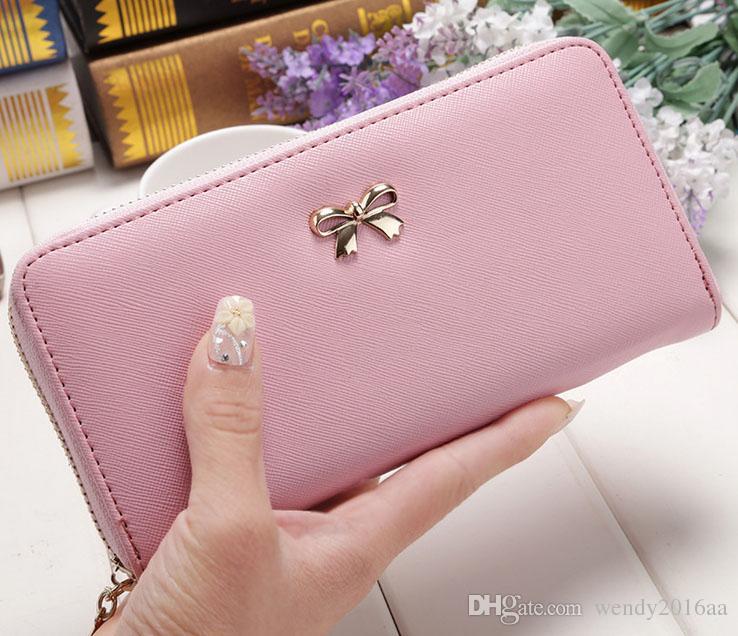 20 teile / los 2017 Neue Dame Frauen Kupplung Leder Lange Brieftasche Kartenhalter Geldbörse Handtasche Tasche