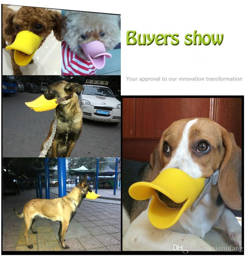 2019 Novelty Cute Duckbilled Dog Muzzle With Nylon Bandage