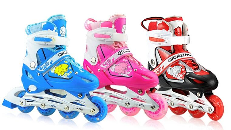 27 41 Patines 3 5 6 7 8 18 Years Kids Carbon Boots Inline Roller Skate  Slalom Speed Skating Shoes 4 Wheels Blue Pink Red Womens Patins UK 2019  From ... e379b5865