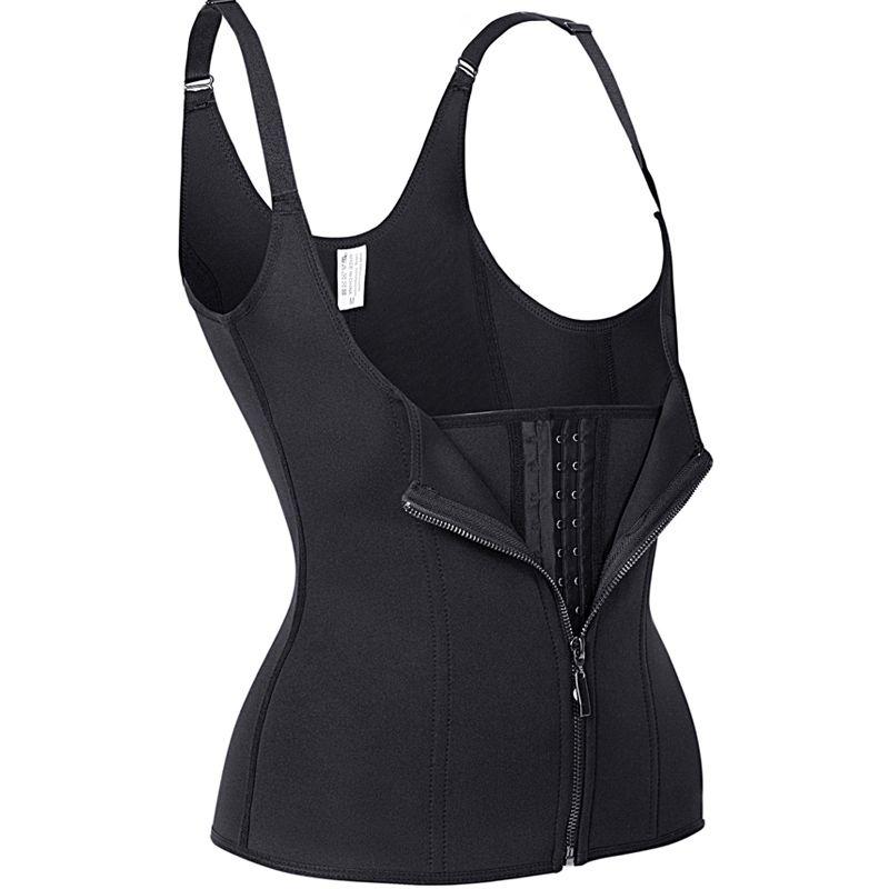 Sıcak Vücut Şekillendirme Siyah Neopren Sauna Ter Yelek Bel Eğitmen Zayıflama Düzeltici Korse Egzersiz Thermo Push Up Shapewear