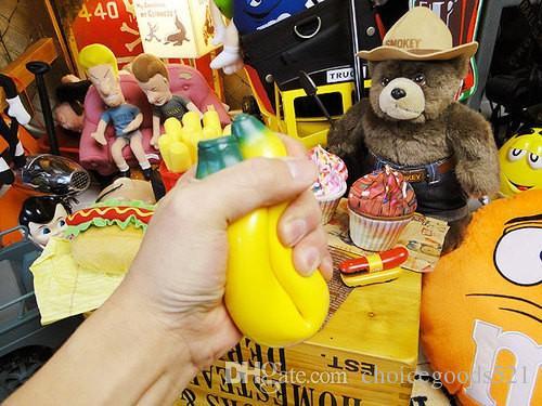 Neue lustige Anti Stress Ball Spielzeug Squeeze Banana Ball Stress Druckentlastung Entspannen Neuheit Spaß Geschenke Geek Gadget Vent Gag Spielzeug Kostenlose Lieferung
