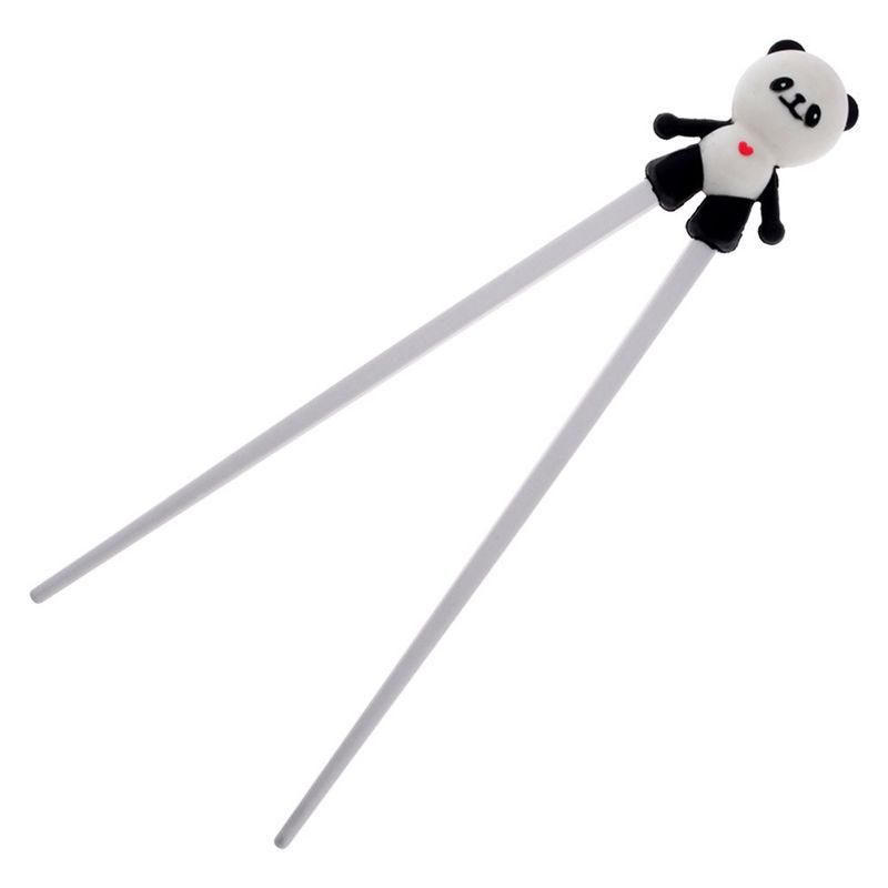 Wholesale- 1 Pair Silicone Cartoon Panda Helper Chopstick Children Baby  Learning Training Chopsticks Beginner Easy Use palillos chinos