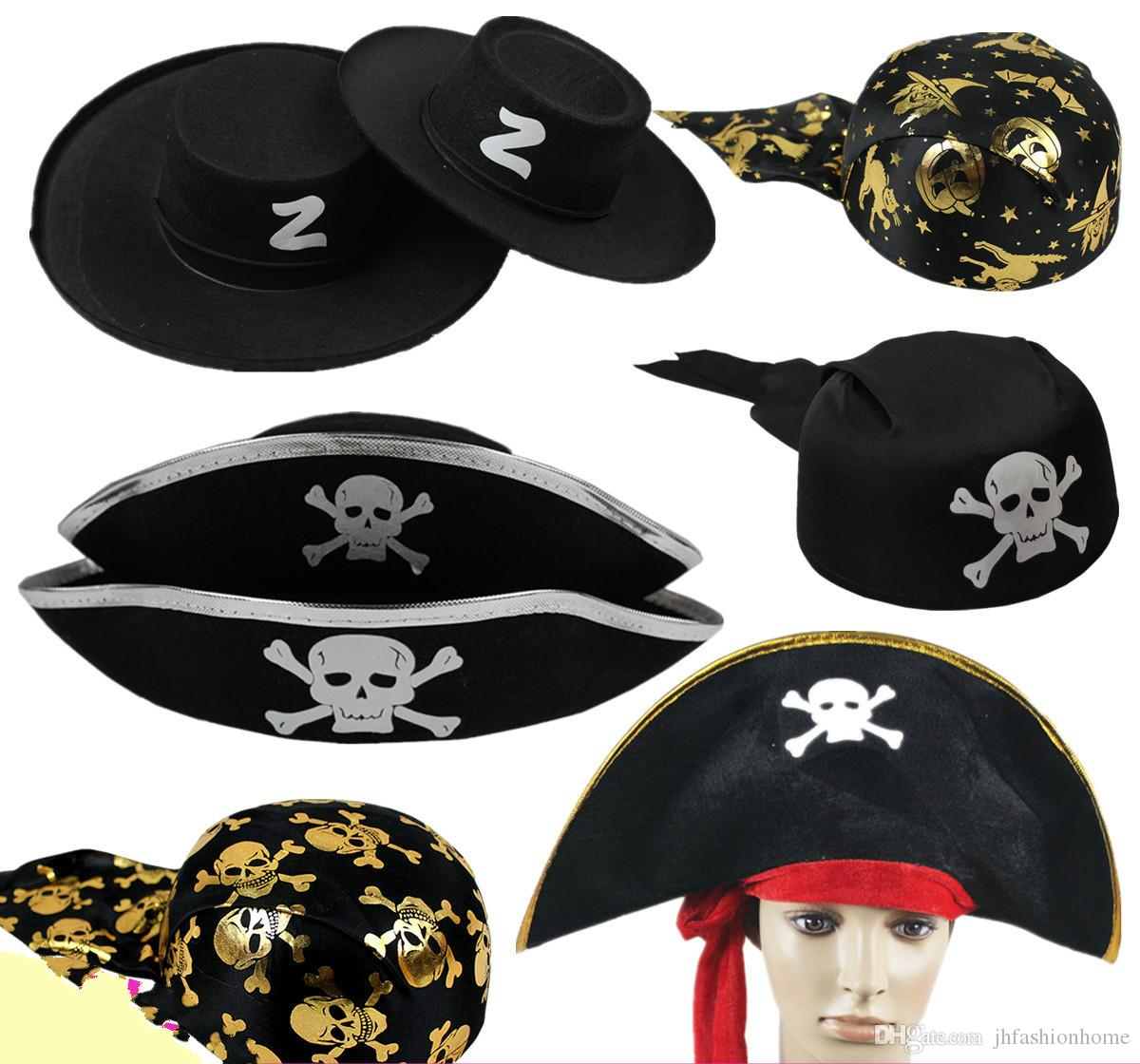 Halloween Party Accessories Pirates Of The Caribbean Hat Captain ...