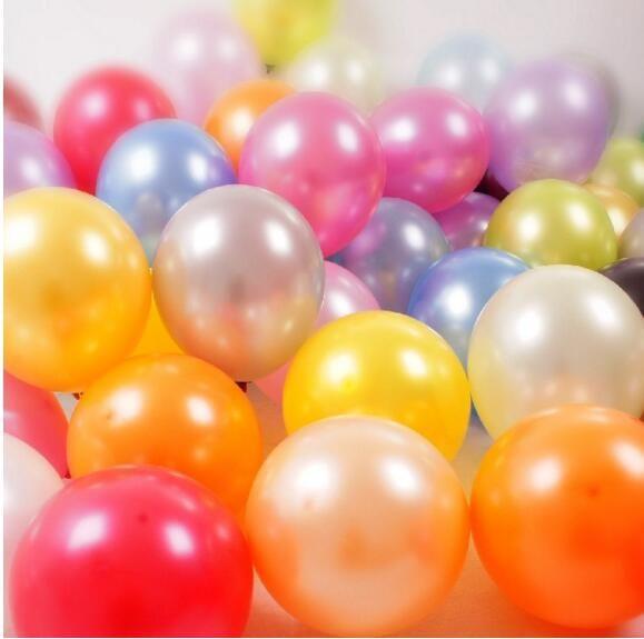 es 10 Pulgadas Látex Fiesta Redonda Globo de Boda Decoración de Globo Suministros de Fiesta 100 unidslote