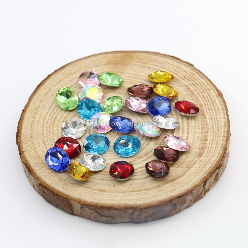 8x10mm 4127  Oval Point Back Fancy Stone Crystal K5 Glass Silver ... b5dcf0ec11bd