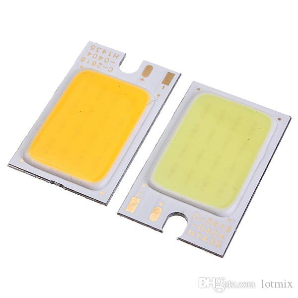 Alta Qualidade 1.8-6 W COB LED Chip Tira Barra de Luz Puro Branco Quente Branco Home Bulb para DIY Car Auto Fonte de Luz DRL Lâmpada DC12V