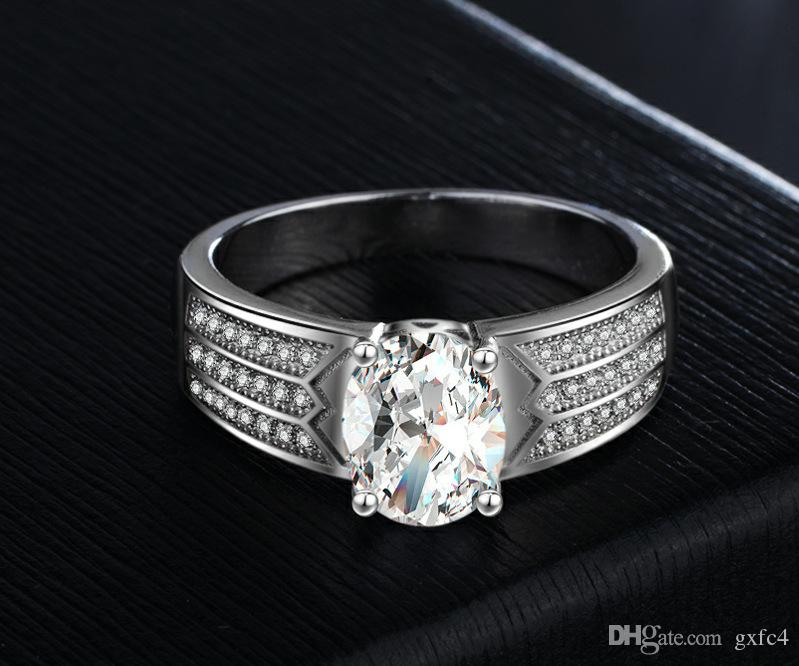 Grosshandel Vecalon Weiblich Mannlich Luxus Schmuck Verlobungsring