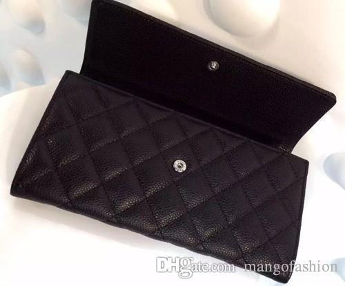 Women Wallets Caviar Genuine Leather Hot Good Quilted Classic