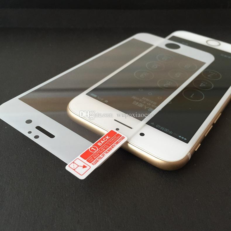 iPhone 7 7plus Full Cover Screen Protector in vetro temperato anti-graffio Free Bubble