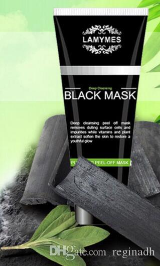 LAMYMES Black Masks Deep Cleansing Black Mask 100ML Blackhead Facial Mask vs Bamboo Charcoal Mask Peel-off face