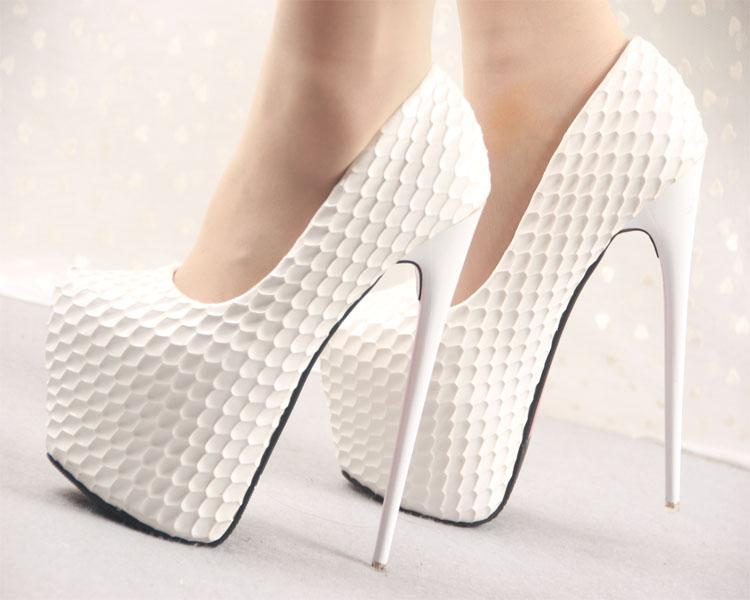 Women Pumps High Heels 2017 Round Toe Stilettos Ladies Evening Bridal Dress Shoes Elegant Fashion Night Out Party Shoes Waterproof 16CM