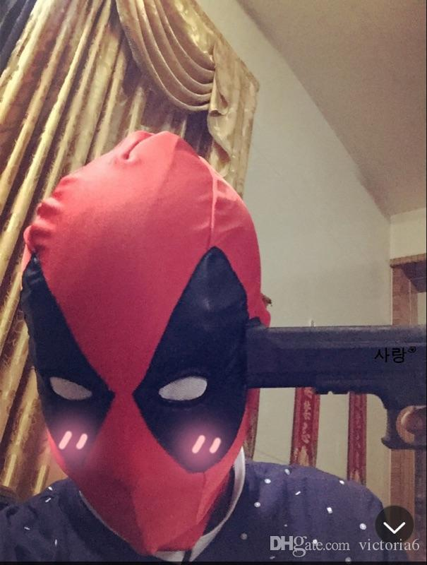 Deadpool Spandex Lycra Balaclava Hat Zentai Mask Hood Halloween Cosplay Headwear