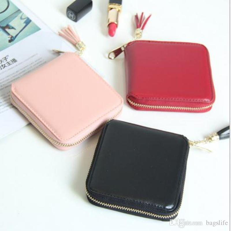f624eeb53c4 New Mini Square Wallet Women Coin Purses Holders Wallet Female Leather  Tassel Pendant Money Wallets Hot Fashion Clutch Bag Wallets For Women  Leather Bags ...