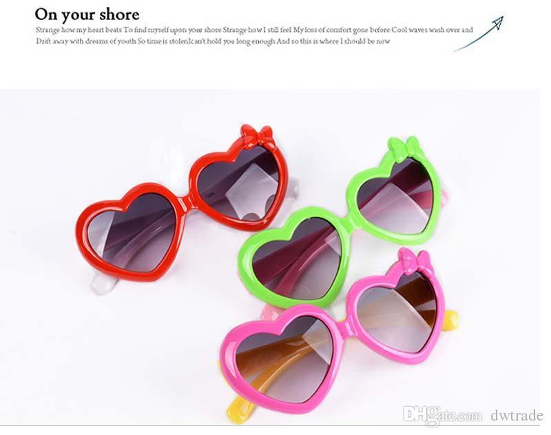 Toddlers Çocuklar için güneş Gözlükleri Plastik Karikatür Aşk Çocuk Güneş Gözlüğü Kız Bebek Shades Gözlük Gözlük Ücretsiz kargo